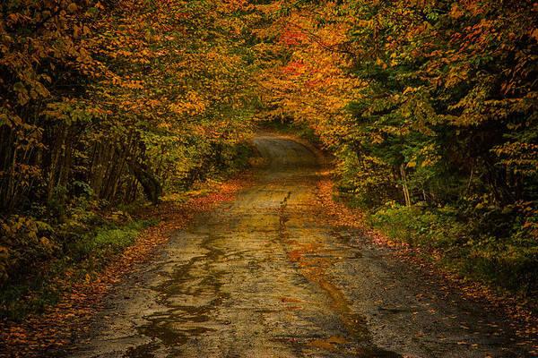 Photograph - Rainy Fall Reflections by Jeff Folger