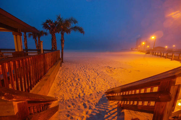 Alabama Painting - Rainy Morning At The Beach by Michael Thomas