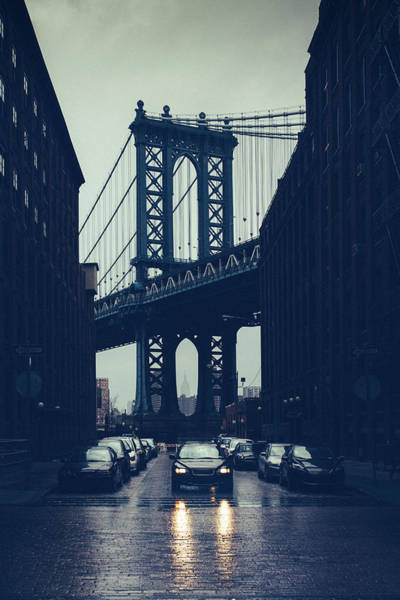Rainy New York City Art Print by Ferrantraite
