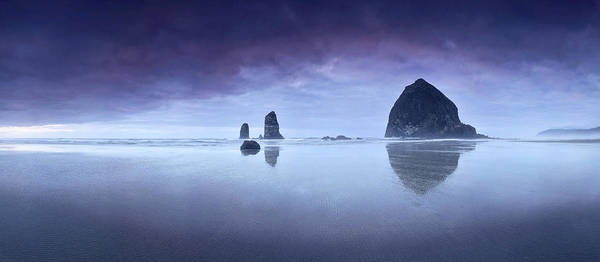 Photograph - Rainy Sunset Over Cannon Beach by Sebastien Coursol