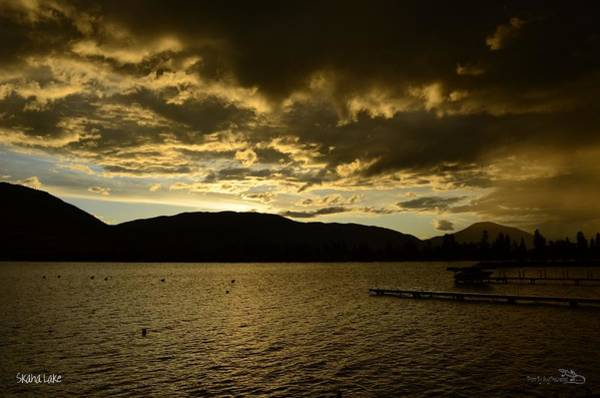 Photograph - Rainysunset - Skaha Lake by Guy Hoffman
