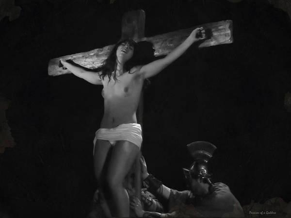 Crucifiction Wall Art - Photograph - Raising The Cross by Ramon Martinez