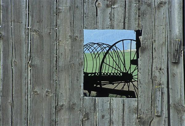Wall Art - Photograph - Rake And Barn by Latah Trail Foundation