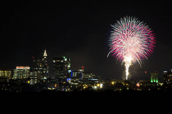 Wall Art - Photograph - Raleigh Fireworks Finale by Frank Savarese