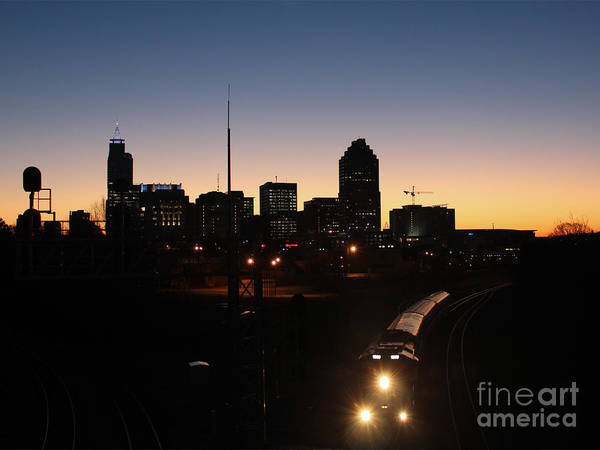 Nc State Wall Art - Photograph - Raleigh Westbound Train At Dawn IIi by Robert Yaeger