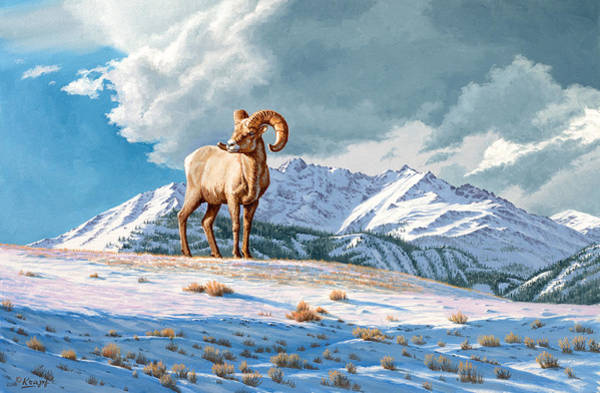 Wall Art - Painting - Ram And Electric Peak by Paul Krapf