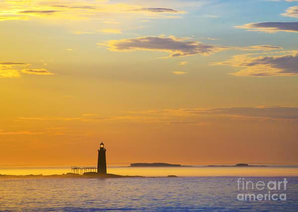 Wall Art - Photograph - Ram Island Lighthouse Casco Bay Maine by Diane Diederich