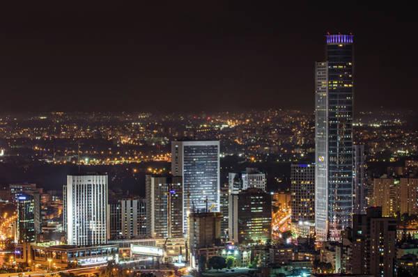 Convention Wall Art - Photograph - Ramat Gan Business Center Skyline by Ilan Shacham