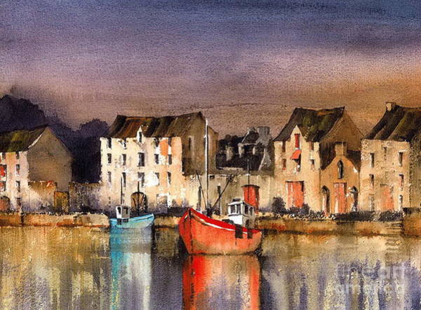 Painting - Ramelton Dusk  Donegal by Val Byrne