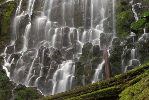 Basalt Photograph - Ramona Falls In Clackamas County, Oregon by William Sutton