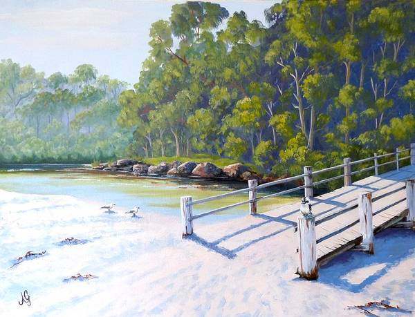 Sand Creek Painting - Ramp At Greenpatch by Anne Gardner