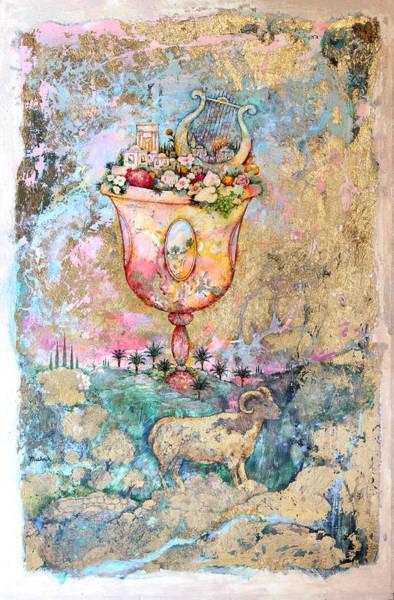 Shofar Wall Art - Painting - Rams Horn by Michoel Muchnik