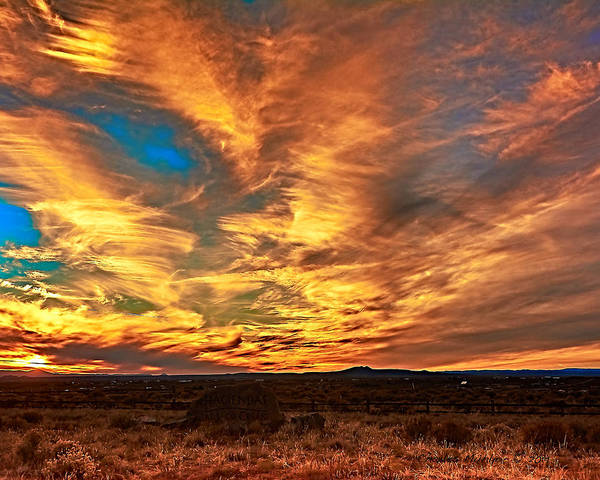 Photograph - Ranchito Sunset X by Charles Muhle
