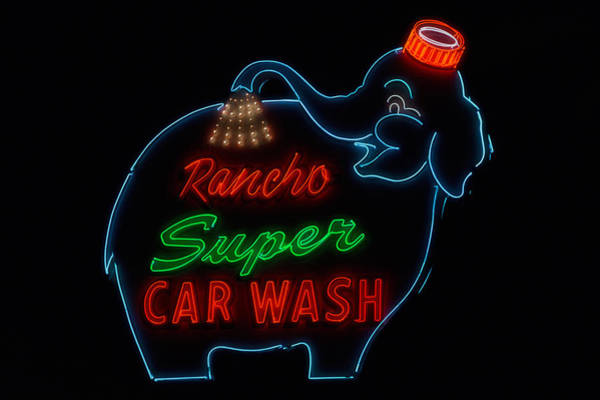 Car Wash Photograph - Rancho Super Car Wash by Mountain Dreams