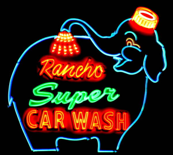 Car Wash Photograph - Rancho Super Car Wash by Randall Weidner