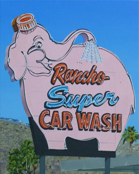 Neon Pink Painting - Rancho Super by Michael Ward