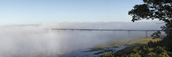 Photograph - Randolph Bridge In Fog by Scott Bean