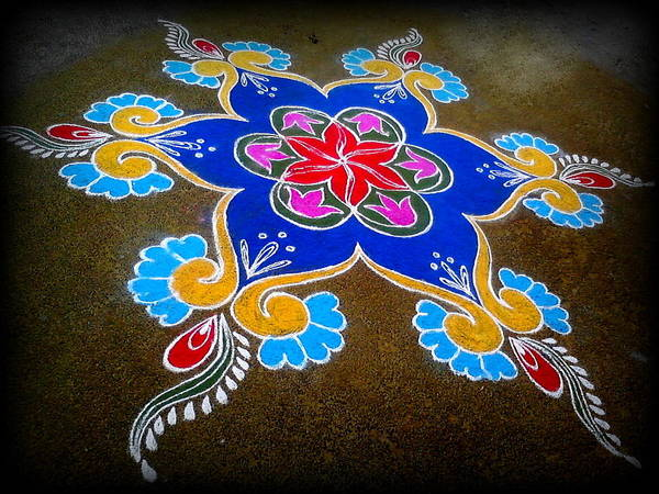 Kannan Painting - Rangoli by Sadhana Kannan