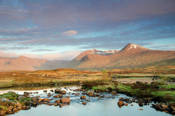 Moored Photograph - Rannoch Moor by Mike Dow Photography