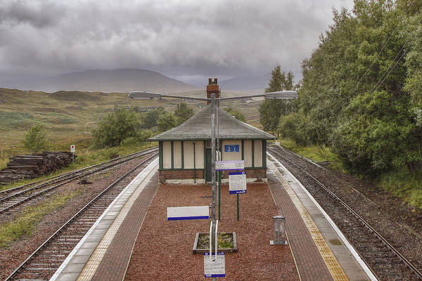 Photograph - Rannoch Railway Station In Scotland by Jason Politte
