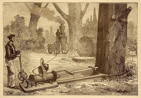Traction Photograph - Ransome's Tree Felling Machine by David Parker