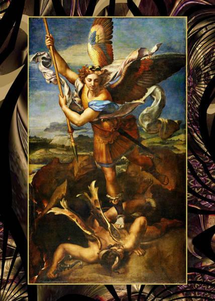 Painting - Raphael Vintage St Michael by Robert Kernodle
