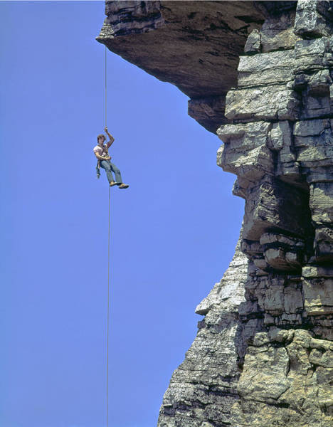 Photograph - Rappelling In The Shawangunks by Ed  Cooper Photography