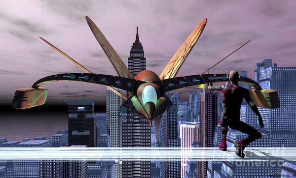 Digital Art - Raptor Ascending by Walter Neal