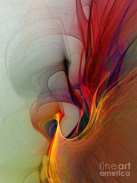 Digital Art - Rapture Of The Deep-abstract Art by Karin Kuhlmann