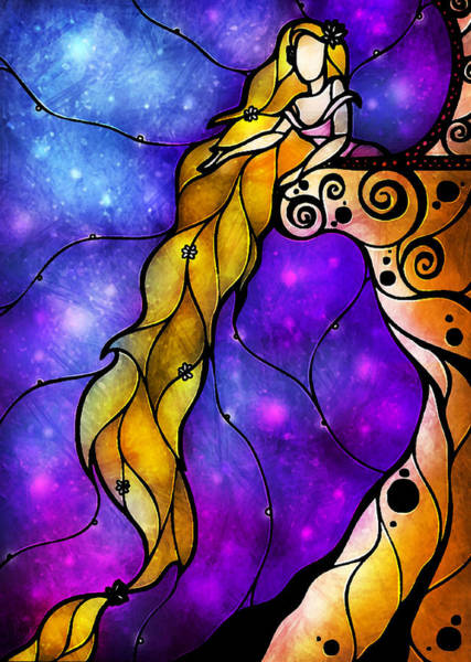 Mixed Media - Rapunzel by Mandie Manzano