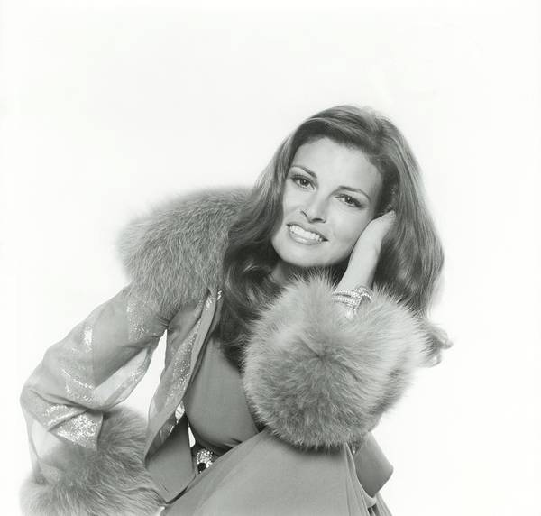Copy Photograph - Raquel Welch Wearing A Chiffon By Valentino by Henry Clarke