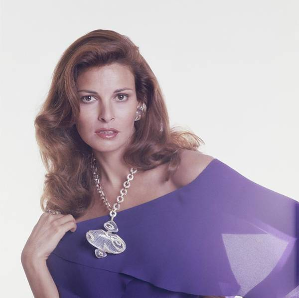 Pendant Photograph - Raquel Welch Wears A Crystal Pendant By Gerard by Henry Clarke