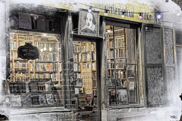 Rare Books Latin Quarter Paris France Art Print