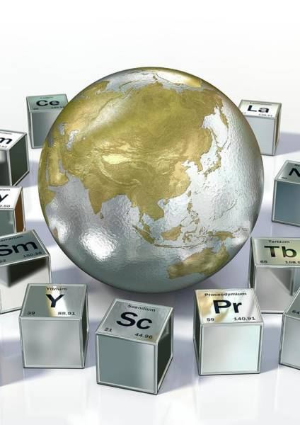 Periodic Table Photograph - Rare Earth Metals by Animated Healthcare Ltd/science Photo Library
