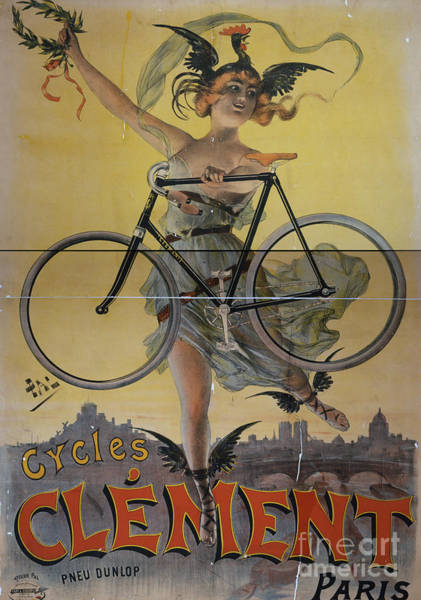 Photograph - Rare Vintage Paris Cycle Poster by Edward Fielding