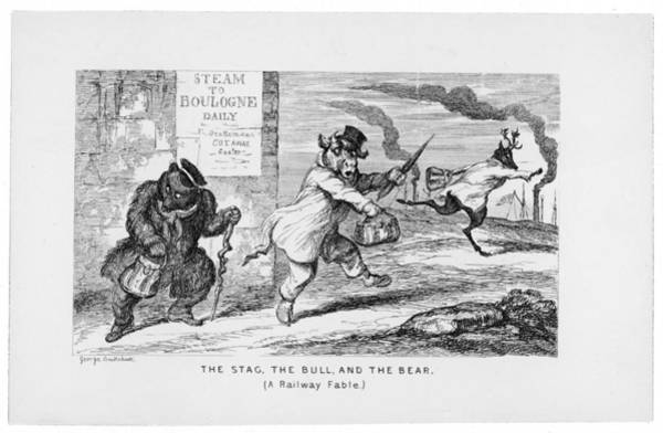 Wall Art - Drawing - Rash Speculators Flee To  France by Mary Evans Picture Library