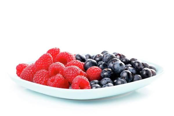 Bilberry Photograph - Raspberries And Bilberries by Wladimir Bulgar/science Photo Library