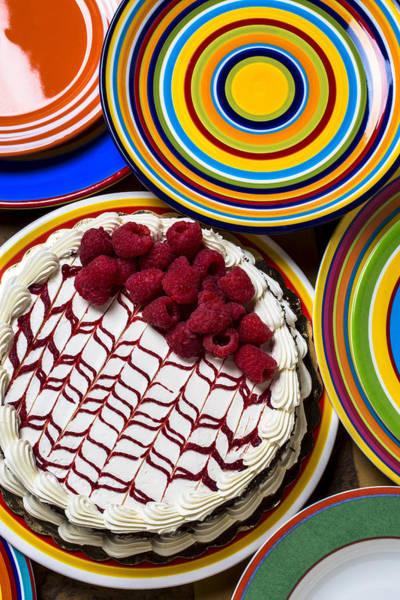 Platter Photograph - Raspberry Cake by Garry Gay