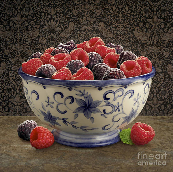 Wall Art - Digital Art - Raspberry Still Life by Danny Smythe