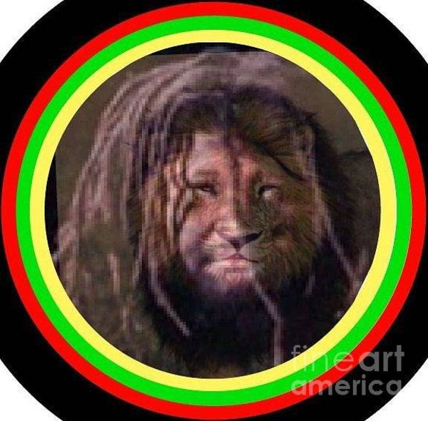 Photograph - Rasta Lion by Ronda Douglas
