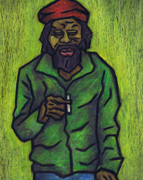 Wall Art - Painting - Rastafarian by Kamil Swiatek