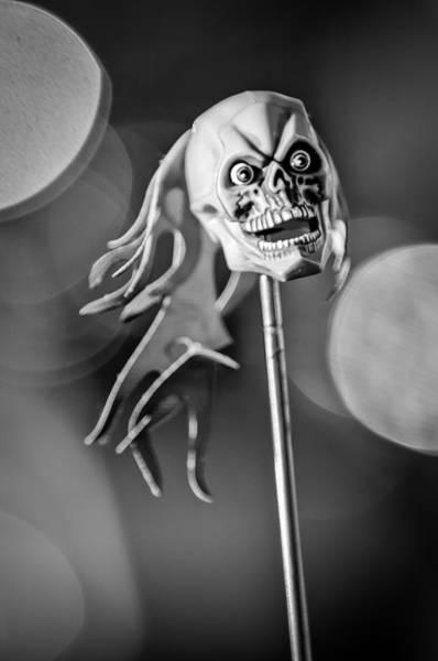 Rat Rod Wall Art - Photograph - Rat Rod Skull Antenna Ornament by Jill Reger