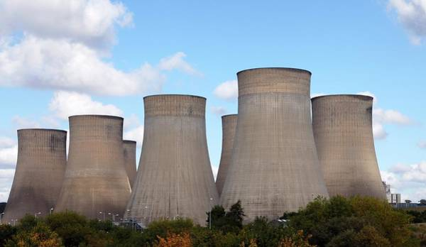 Cooling Tower Photograph - Ratcliffe-on-soar Power Station by Victor De Schwanberg