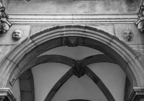 Glockenspiel Photograph - Rathaus Arch Bw Cologne Germany by Teresa Mucha
