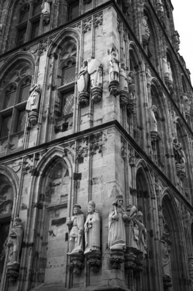 Glockenspiel Photograph - Rathaus Tower Cologne Germany Bw by Teresa Mucha