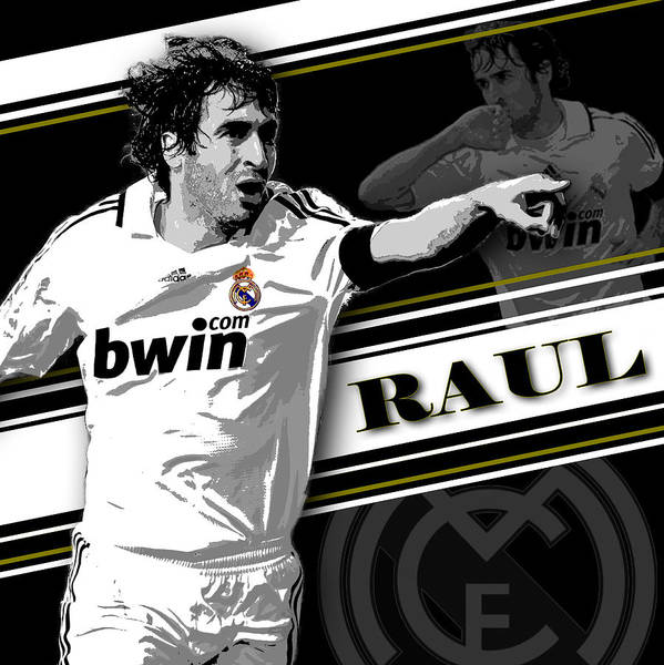 Athletes Wall Art - Photograph - Raul Real Madrid Print by Pro Prints