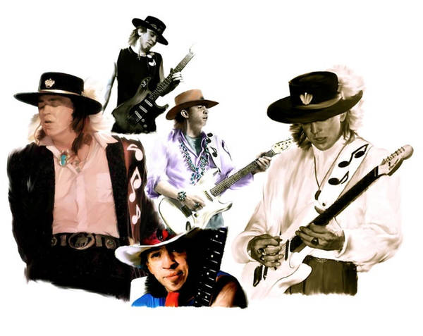 Painting - Rave On  Stevie Ray Vaughan by Iconic Images Art Gallery David Pucciarelli