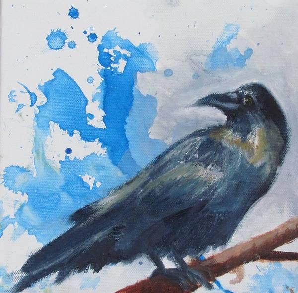 Wall Art - Painting - Raven by Casey Pretzeus