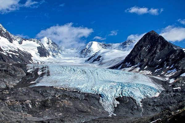 Photograph - Raven Glacier 2 by Ed Boudreau