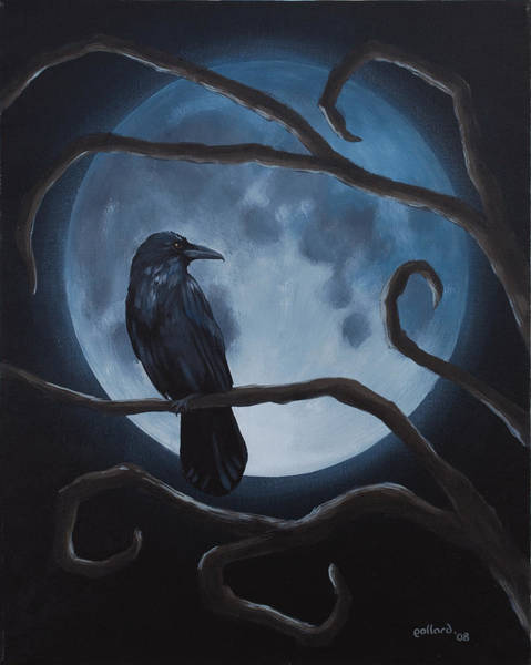 Painting - Raven Moon by Glenn Pollard